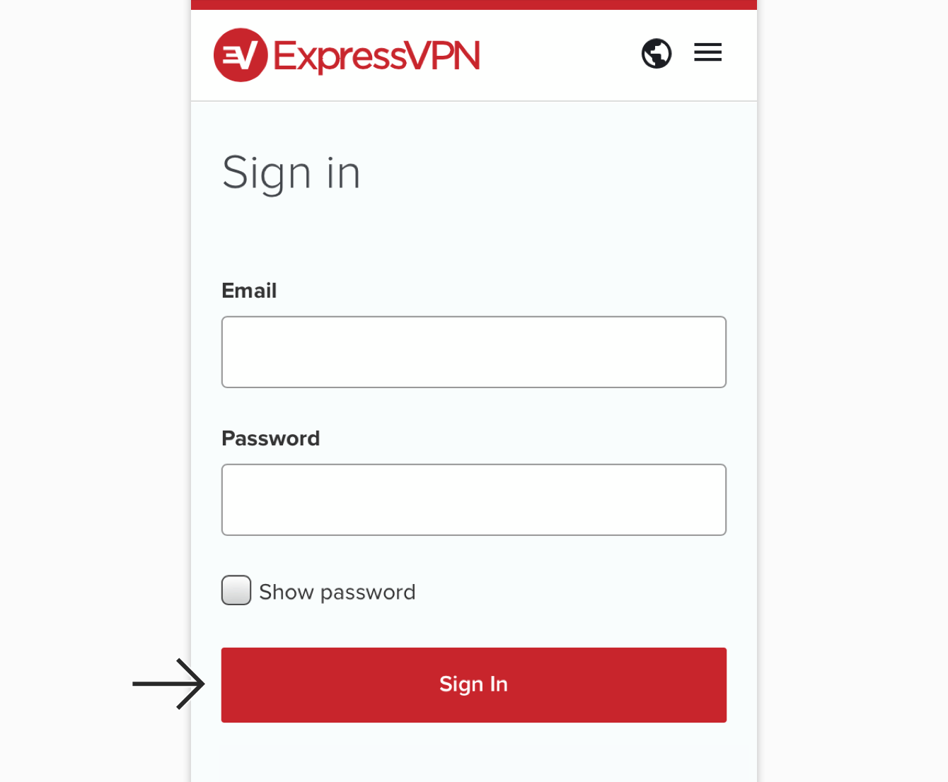 expressvpn sign in