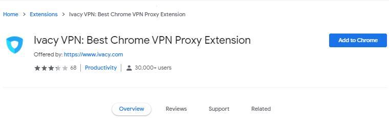 ivacy chrome VPN 插件
