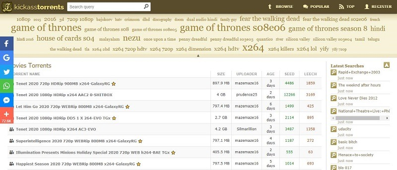 kickasstorrents 种子网站