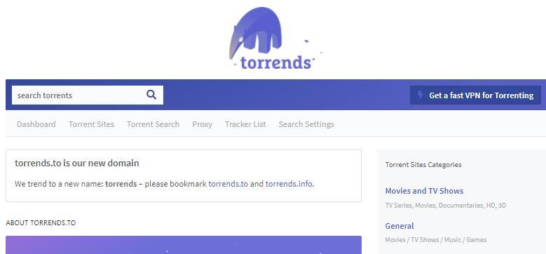 torrends种子搜索站