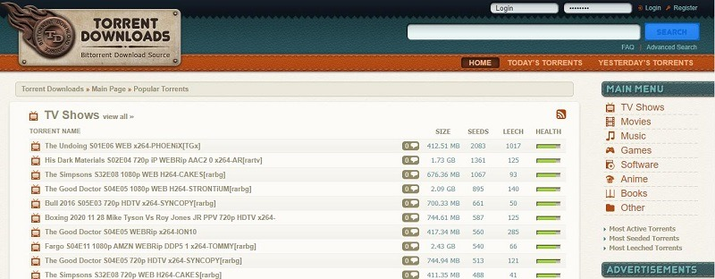 torrentdownloads 种子网站