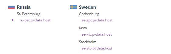 privateVPN瑞典服务器节点